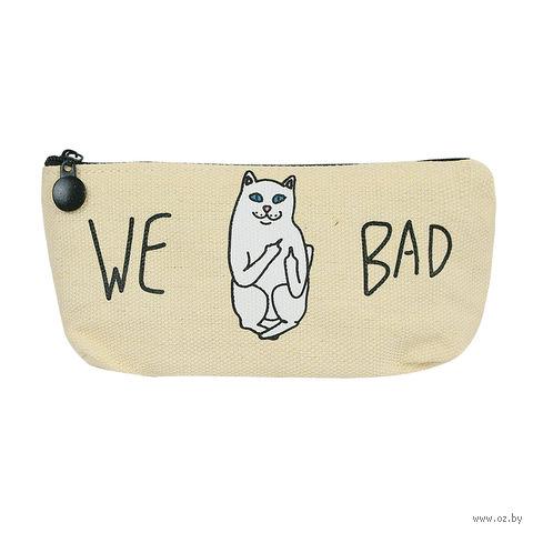 """Пенал """"Bad Cat"""" (желтый) — фото, картинка"""