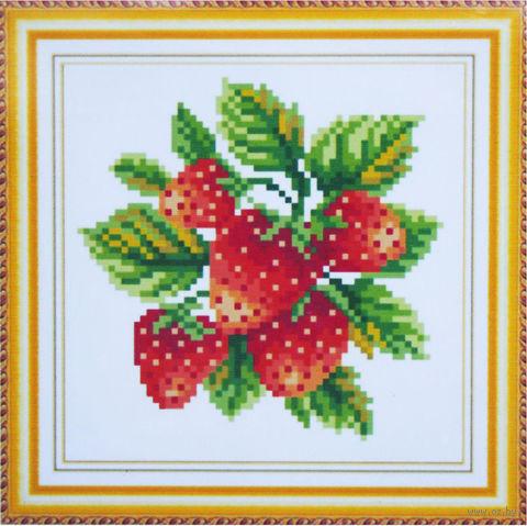 "Алмазная вышивка-мозаика ""Клубника"" (160х160 мм) — фото, картинка"