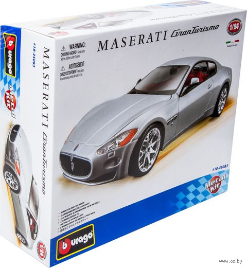 "Модель машины ""Bburago. Kit. Maserati Gran Tourismo"" (масштаб: 1/24) — фото, картинка"
