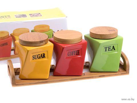 Набор банок для сыпучих продуктов (4 предмета; арт. 25561256) — фото, картинка