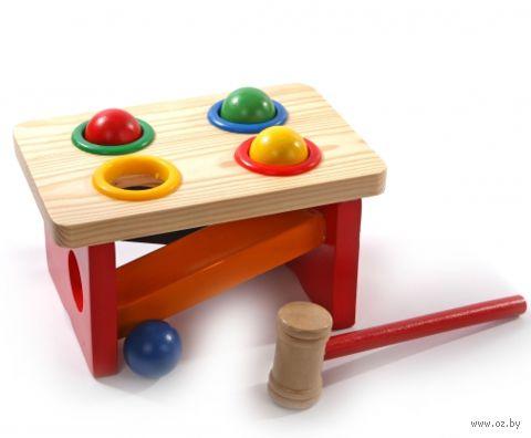 """Деревянная игрушка """"Стучалка-горка-шарики"""""""