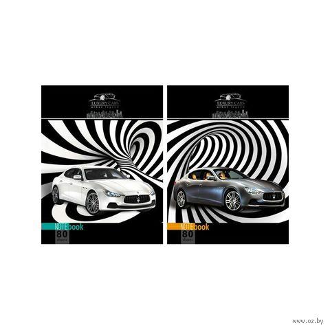 """Блокнот в клетку А5 """"Luxury Car"""" 80 листов (ассорти)"""