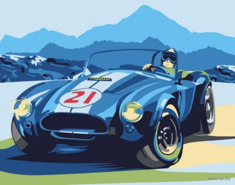 "Картина по номерам ""Ретро автомобиль Cobra"" (400х500 мм) — фото, картинка"