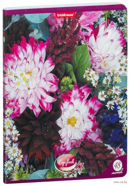 """Тетрадь полуобщая в клетку """"Flowersea"""" (48 листов; в ассортименте) — фото, картинка"""