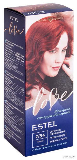 """Крем-краска для волос """"Estel Love"""" (тон: 7/54, пламя) — фото, картинка"""