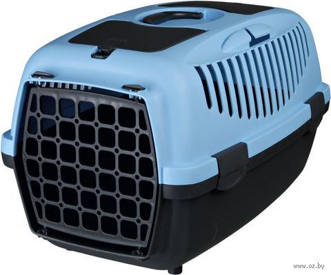 """Переноска для животных """"Traveller Capri II"""" (37х34х55 см; серо-голубая) — фото, картинка"""