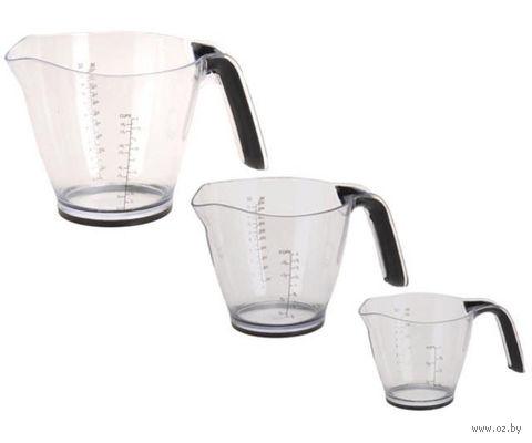 Набор стаканов мерных пластмассовых (3 шт)
