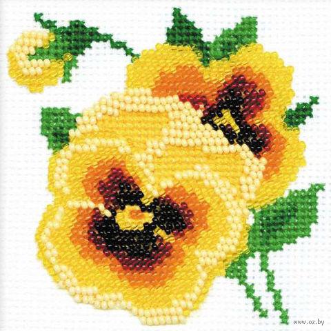 "Набор для вышивания ""Анютки"" (100х100 мм) — фото, картинка"