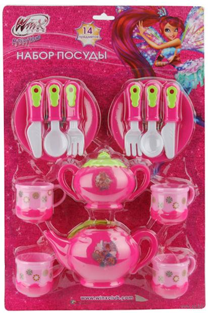 """Набор детской посуды """"Winx"""" (14 предметов)"""