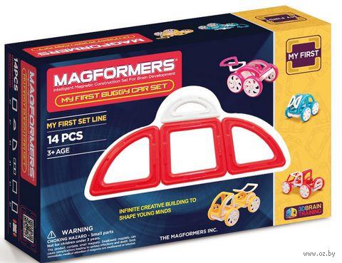 """Конструктор магнитный """"My First Buggy. Красный"""" (14 деталей)"""