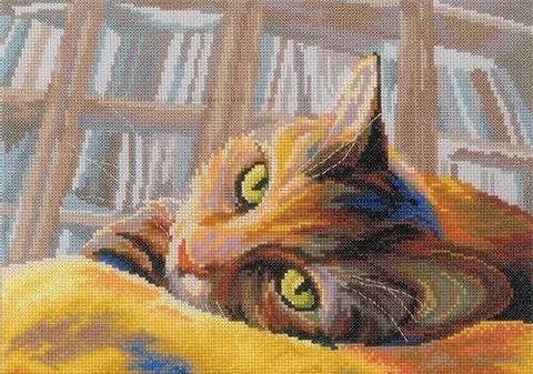 """Вышивка крестом """"Кот на диване"""""""