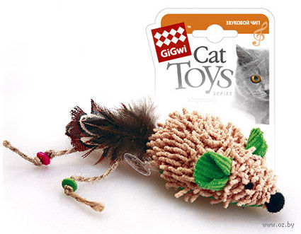 """Игрушка для кошек """"Мышка"""" со звуковым чипом (8 см) — фото, картинка"""