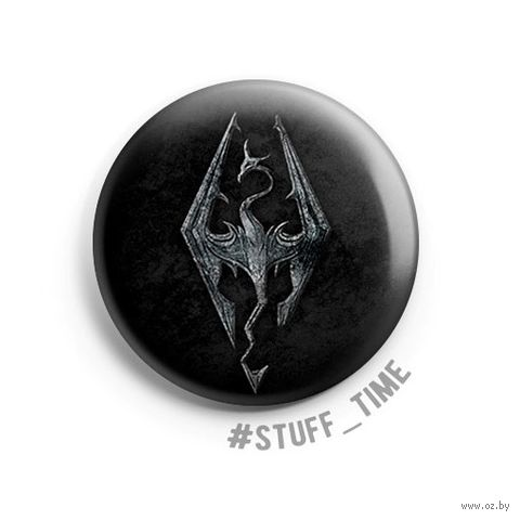 "Значок маленький ""Skyrim"" (арт. 348) — фото, картинка"