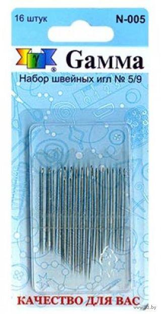 Иглы для шитья №5-9 (16 шт.) — фото, картинка