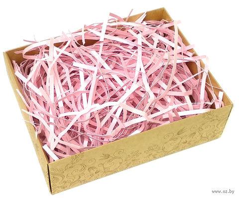 Стружка бумажная (розовый перламутр; 100 г) — фото, картинка