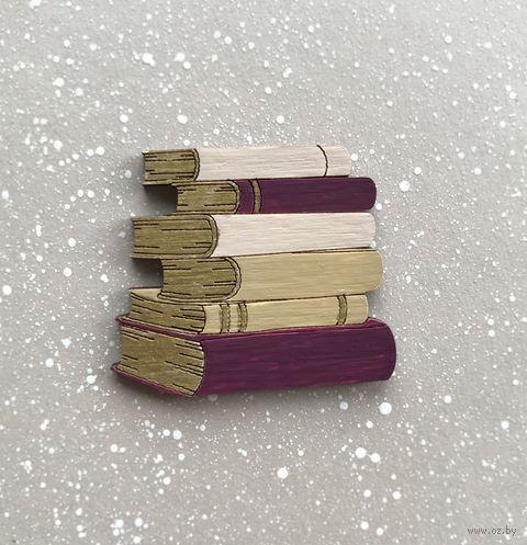 """Брошь """"Стопка книг"""" (арт. 363-2) — фото, картинка"""