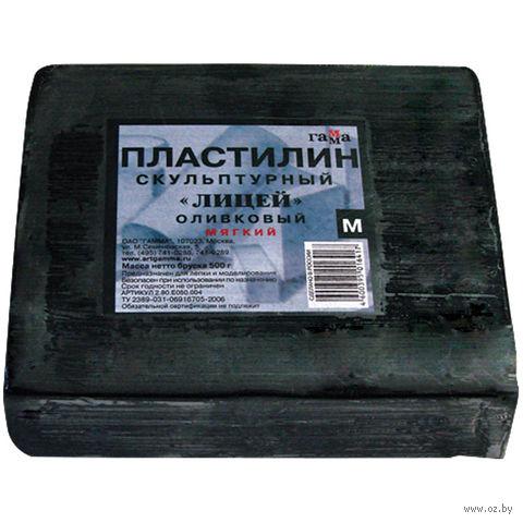 """Пластилин скульптурный """"Оливковый"""" М (500 г)"""