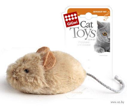 """Игрушка для кошек со звуковым чипом """"Мышка"""" (13 см) — фото, картинка"""