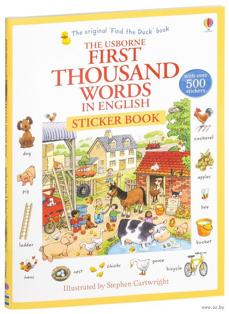 First Thousand Words in English. Sticker Book — фото, картинка