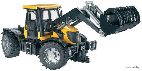 """Модель машины """"Трактор JCB Fastrac 3220 с погрузчиком"""" (масштаб: 1/16)"""