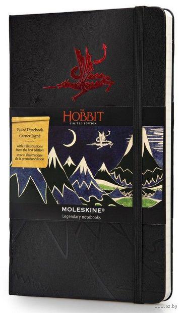 """Записная книжка Молескин """"The Hobbit II"""" в линейку (большая; твердая черная обложка)"""