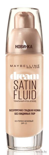 """Тональный крем-флюид для лица """"Dream Satin Fluid"""" (тон: 043, темно-бежевый)"""