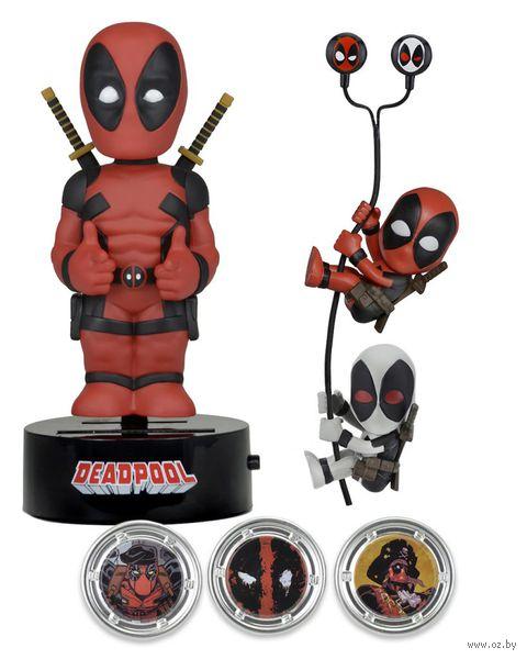 """Набор """"Neca. Deadpool. Marvel"""" (Фигурка на солнечной батарее, наушники, держатели проводов 2 шт.) — фото, картинка"""