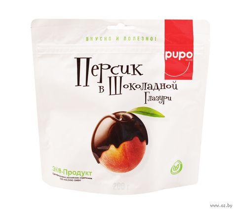 """Персик в шоколадной глазури """"Pupo"""" (200 г) — фото, картинка"""