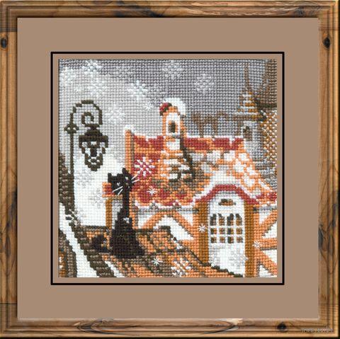 """Вышивка крестом """"Город и кошки. Зима"""" (арт. 610)"""