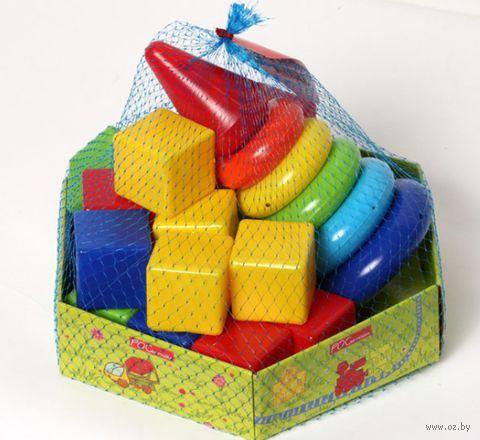 """Игровой набор """"Малютка"""" (пирамидка и кубики)"""