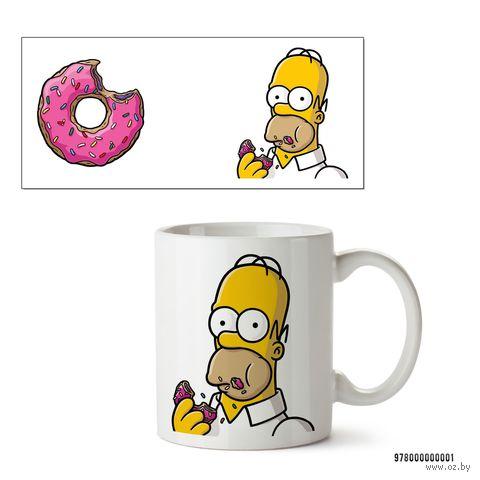 """Кружка """"Симпсоны. Гомер"""" (белая; арт. 0001) — фото, картинка"""