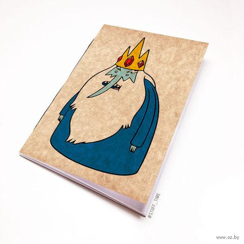 "Блокнот крафт ""Время приключений. Ледяной король"" (А7; арт. 095) — фото, картинка"