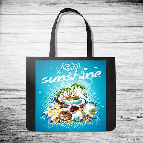 """Сумка-шоппер """"Enjoy the sunshine"""" (арт. 8) — фото, картинка"""