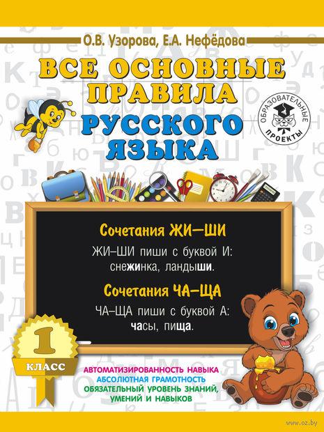 Все основные правила русского языка. 1 класс — фото, картинка