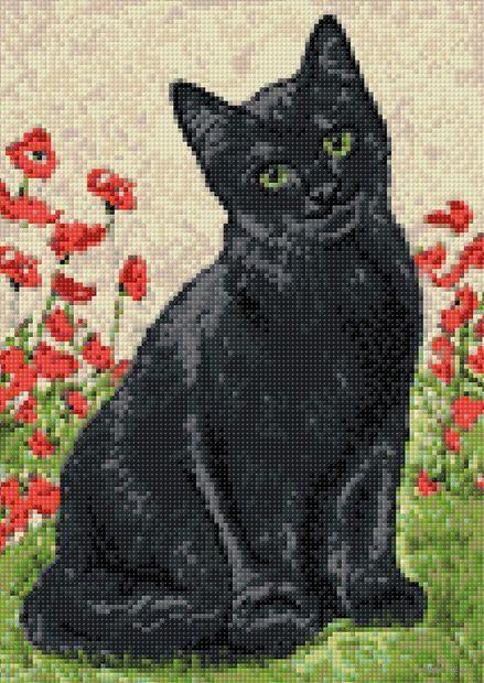 "Алмазная вышивка-мозаика ""Кошечка"" (270х380 мм) — фото, картинка"