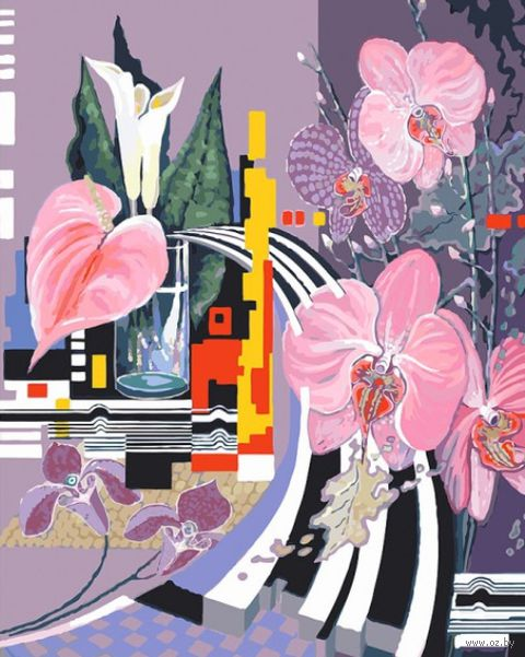 "Картина по номерам ""Композиция с орхидеями"" (400х500 мм)"
