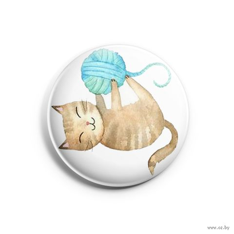 "Значок маленький ""Кот"" (арт. 119) — фото, картинка"