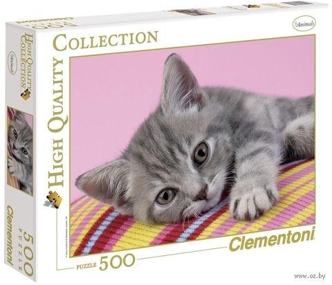"Пазл ""Серый котенок"" (500 деталей) — фото, картинка"