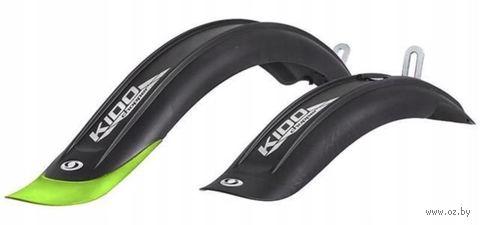 """Комплект щитков для велосипеда """"Kido Sds"""" (20""""; чёрно-зелёный) — фото, картинка"""