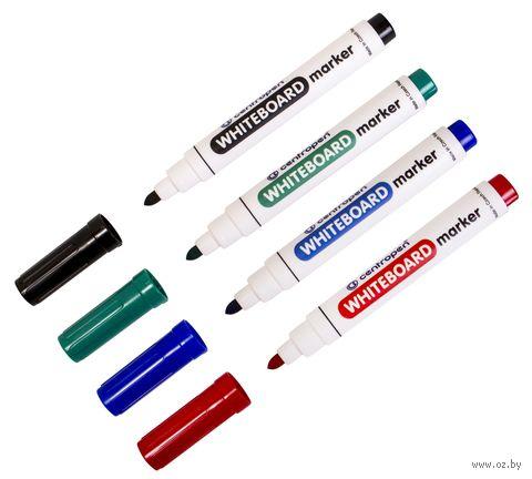 """Набор маркеров для доски """"Centropen"""" (4 цвета) — фото, картинка"""