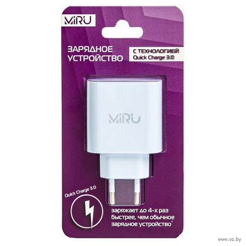Сетевое зарядное устройство Miru 5026 (белое) — фото, картинка