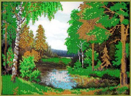 """Вышивка бисером """"Сказочный лес"""" (240x190 мм) — фото, картинка"""