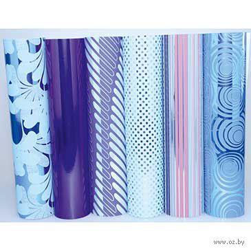"""Бумага подарочная в рулоне """"Premium. Blue"""" (цвет: ассорти)"""