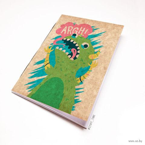 """Блокнот крафт """"Динозавр"""" (А7; арт. 098) — фото, картинка"""