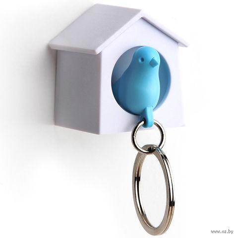"""Брелок-свисток и держатель для ключей """"Mini Sparrow"""" (голубой)"""