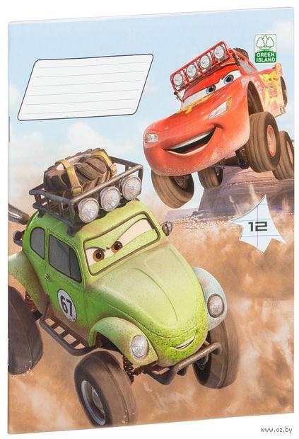 "Тетрадь в линейку ""Cars"" 12 листов"