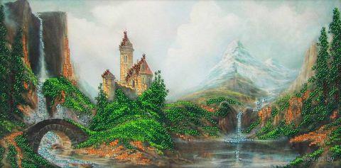 """Вышивка бисером """"Замок"""" (400х200 мм) — фото, картинка"""