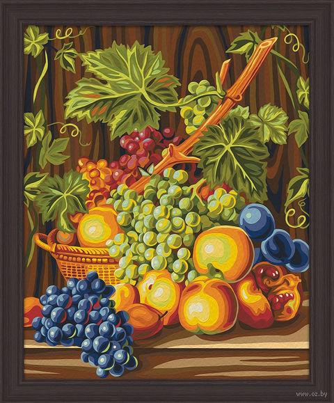 "Картина по номерам ""Сочный виноград"" (400х500 мм) — фото, картинка"