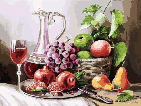 """Картина по номерам """"Натюрморт с фруктами"""" (300х400 мм) — фото, картинка"""