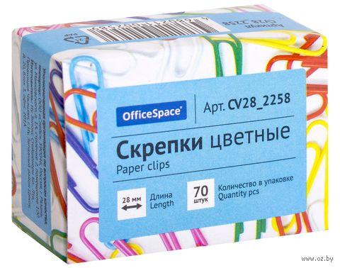 Скрепки виниловые (70 шт.; 28 мм; цветные) — фото, картинка